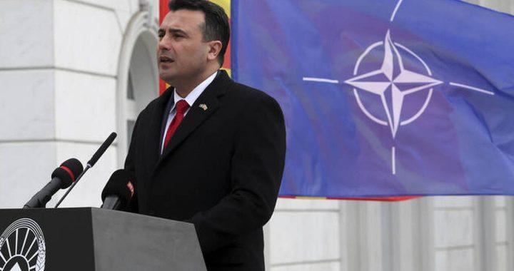 Με φόντο τη σημαία του ΝΑΤΟ ο Ζάεφ είπε τη χώρα του «Βόρεια Μακεδονία»