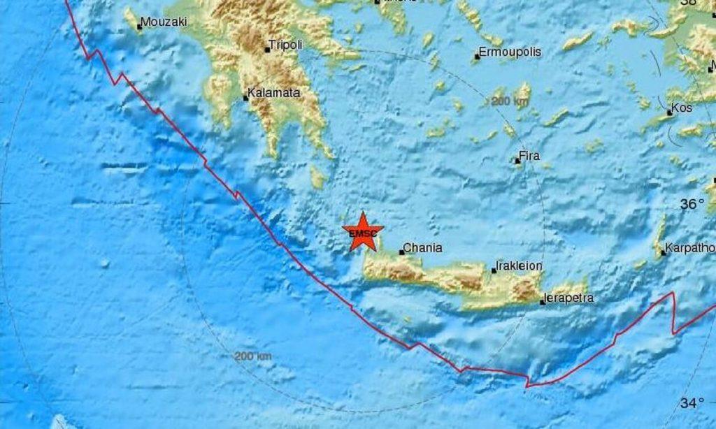 Σεισμός ΤΩΡΑ δυτικά των Χανίων - Αισθητός σε πολλές περιοχές (pics)