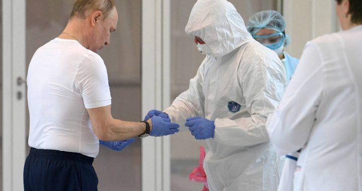 Κορονοϊός – Ρωσία: Ο Πούτιν επισκέφθηκε νοσοκομείο και διαπίστωσε ότι το λειτουργεί «ρολόι» (pics)
