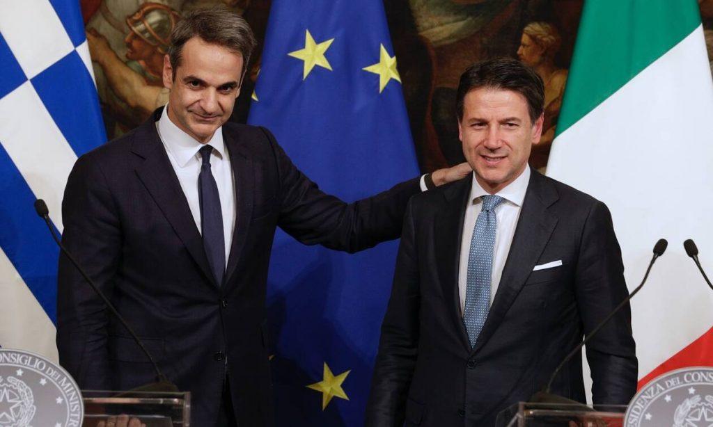Τηλεφωνική συνομιλία Μητσοτάκη - Κόντε: Σημαντικό βήμα για την ΕΕ η πρόταση Μέρκελ- Μακρόν