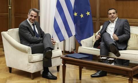 Μητσοτάκης-Τσίπρας: 1,5 ώρα διήρκεσε η συνάντηση - Μίλησαν για τα ελληνοτουρκικά
