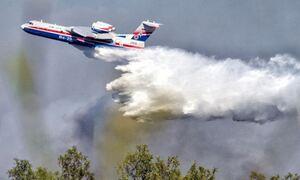 Φωτιά στην Αχαΐα: Εκκενώνεται η κοινότητα Δροσιά - «Σηκώθηκε» το Beriev-200
