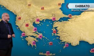 Καιρός - Αρναούτογλου: Ζέστη, υγρασία και σκόνη το Σαββατοκύριακο - Πού θα δείξει 36άρια