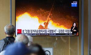 Η Βόρεια Κορέα προχώρησε σε εκτόξευση δυο βαλλιστικών πυραύλων