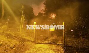 Φωτιά στη Νέα Μάκρη: Μήνυμα από το 112 σε Λιβίσι και Αγία Μαρίνα