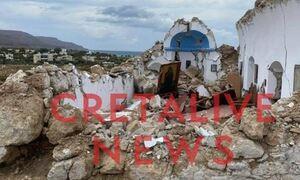 Σεισμός στην Κρήτη: Κατέρρευσε το εκκλησάκι του Αγίου Νικολάου